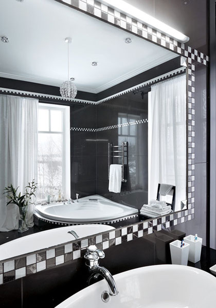 Bathroom Design Ideas Black And White : Luxurious house design by russian architects black and