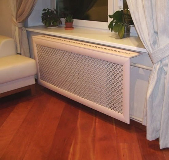 white heater cover