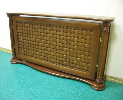 wooden handmade heater cover