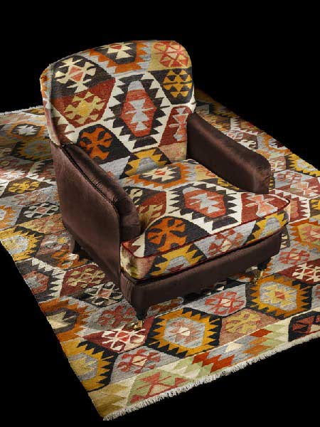 chair upholstery fabric and kilim
