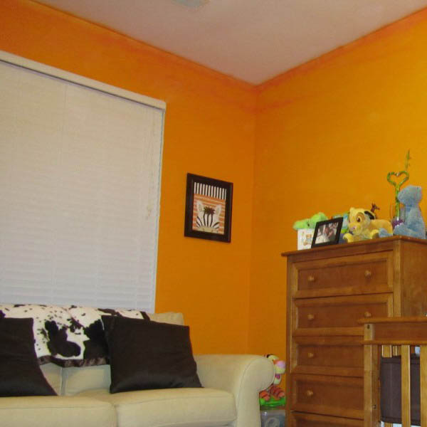 orange brown colors for kids room decorating