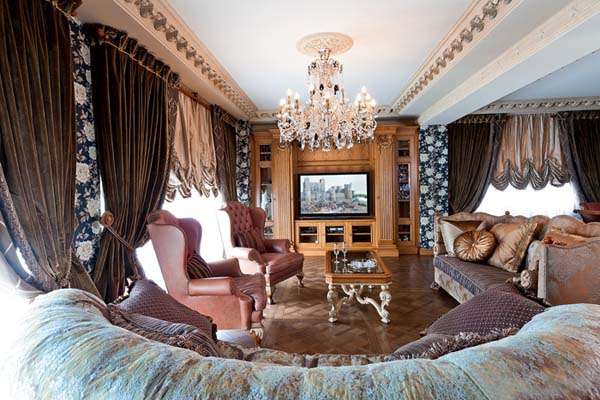 Interior Decorating in Classic Style, Premier Apartment in Moscow