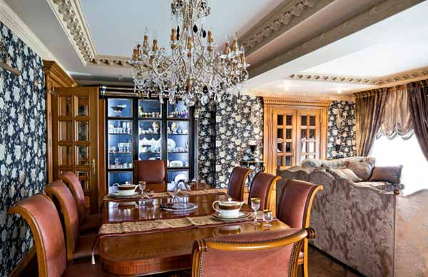 dining room decorating in classic style