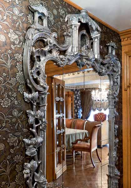 carved wood mirror frame
