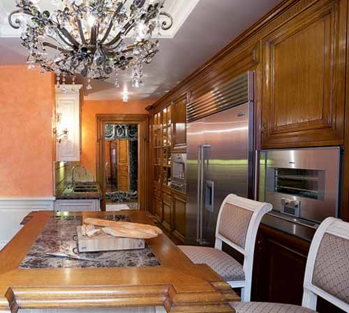 wood kitchen cabinets in classic style