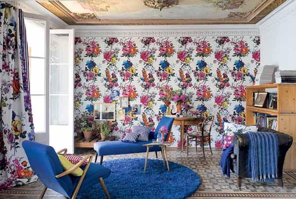 blue color for modern room decorating