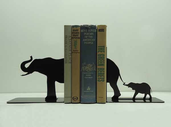 elephants bookends