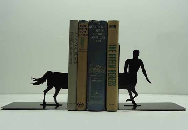 bookends made of steel