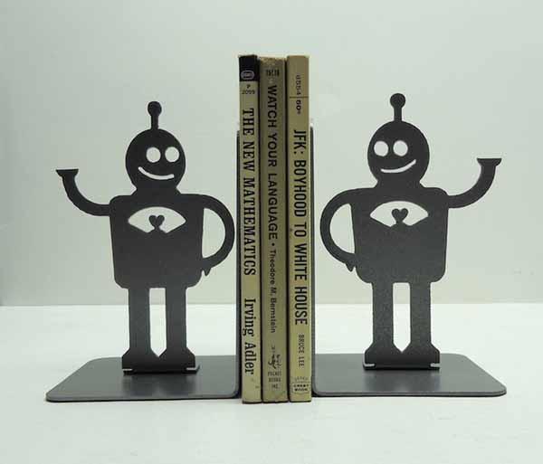 robot bookends design