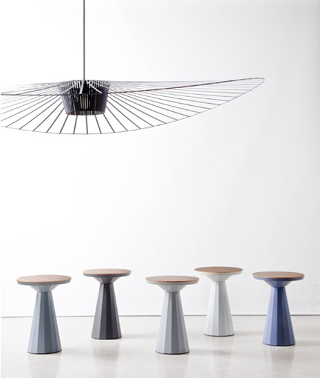 contemporary chandelier and stools