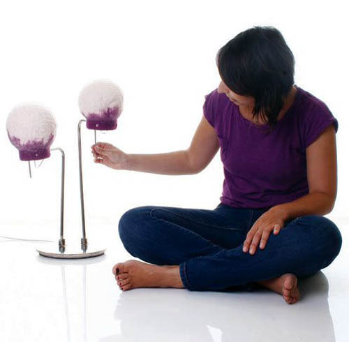 felted table lamps