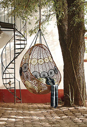 macrame chair design for backyard decorating