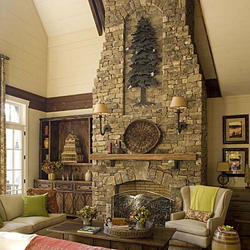 Beautiful fireplaces 15 ideas for interior decorating around fireplaces - Decorating ideas for fireplace walls ...