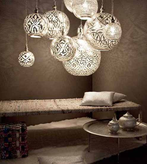 pendant lights and arabic decor accessories