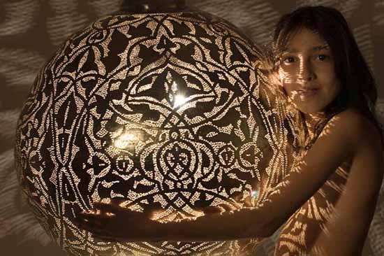 Egyptian Design Ceiling Light