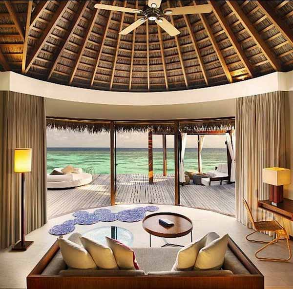 Tropical home decorating ideas inspired by maldives w for Beach villa design ideas