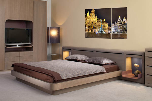 night city poster for bedroom decorating. 15 Ideas for Interior Decorating with Posters and Photographs Prints
