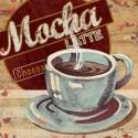 coffee decor, antique poster mocha
