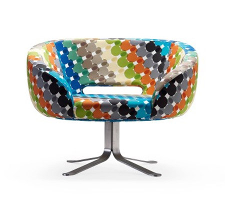 retro chair, colorful upholstered furniture