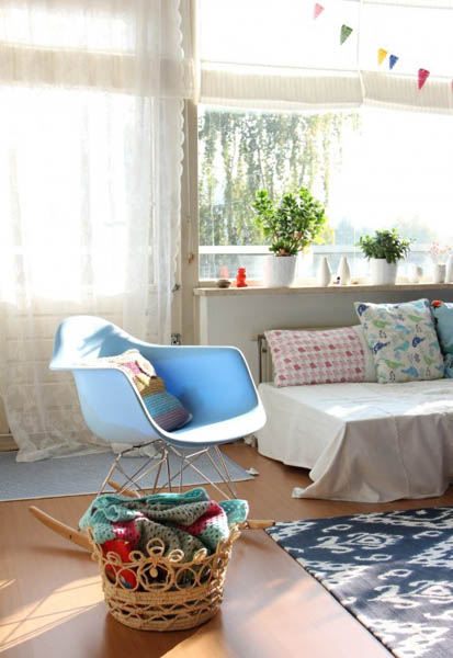 white chair and living room sofa
