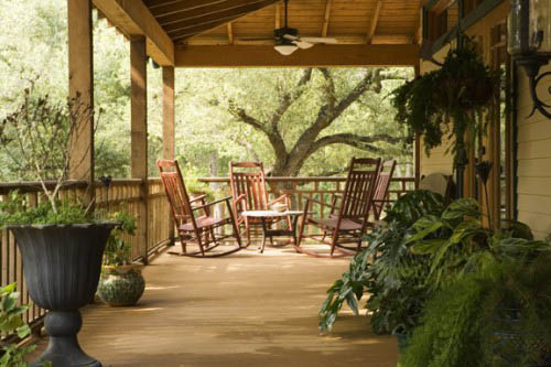 wood furniture for porch decorating
