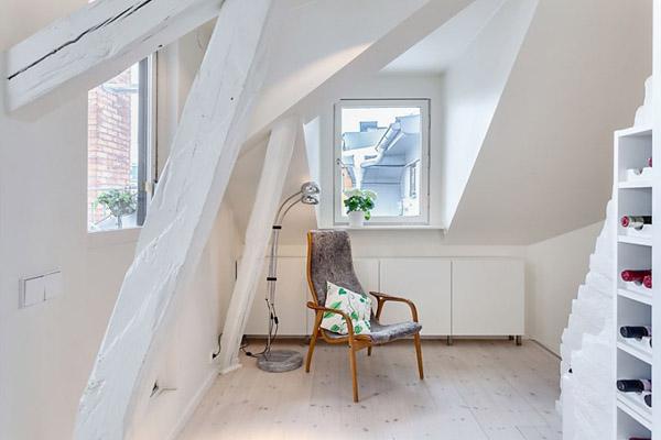 Scandinavian House, White Decorating ideas, Attic ...