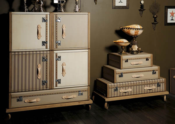 vintage furniture that look like old suitcases