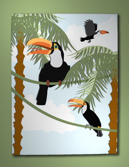 tropical decorating ideas with bird images