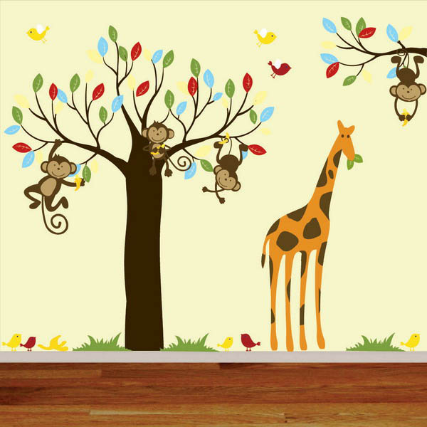 wallpaper and wall stickers for kids