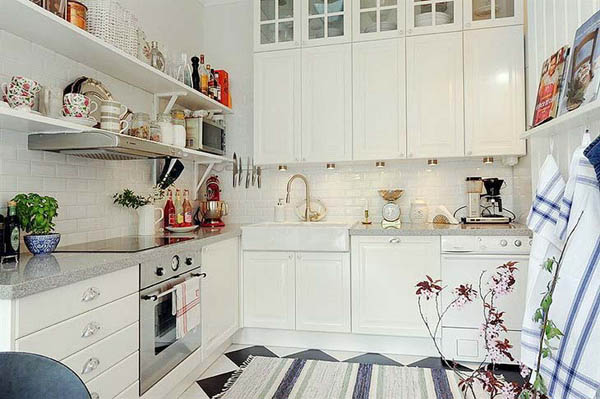 White Decorating Ideas, Modern Kitchen Decor in Timeless Style on modern shower decorating ideas, modern kitchen tile design, modern kitchen tile flooring, modern bathroom decorating ideas,