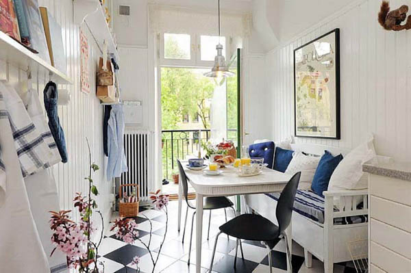 blue and white decorating clor scheme for dining room