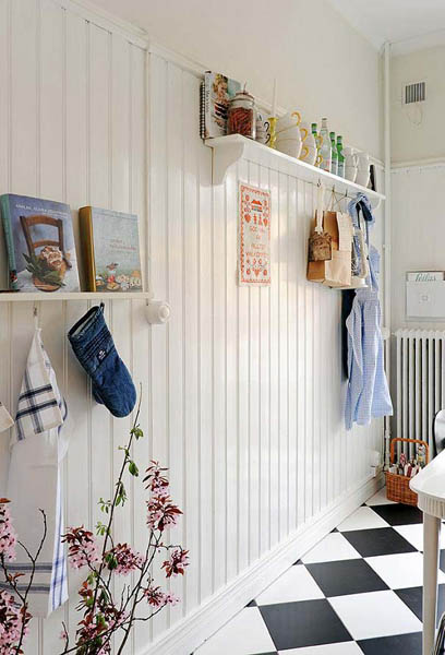 white paint for kitchen wall decoration