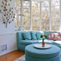 bay window design with sofa