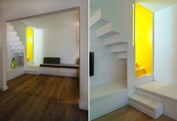 yellow color for modern interior design