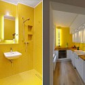 yellow wall tiles