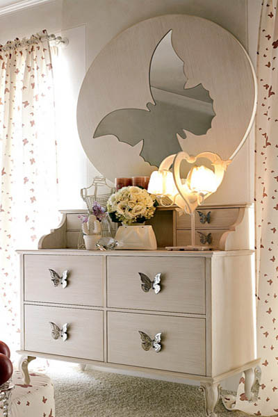 butterfly mirror for girls bedroom decorating