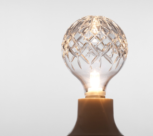 exposed crystal bulb light