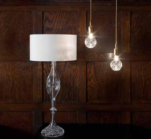 crystal lighting fixtures exposed crystal bulb lighting from lee broom