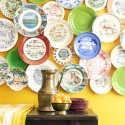 ceramic plate collage for decorating large wall