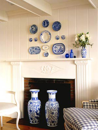 Plates On Wall In Kitchen Display