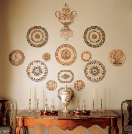 Decorating Walls decorative plates collage, beautiful wall decorating ideas