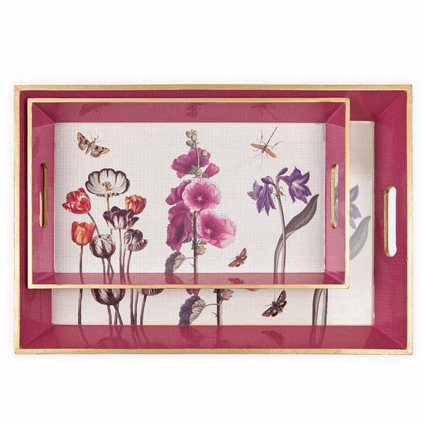 tray with floral print