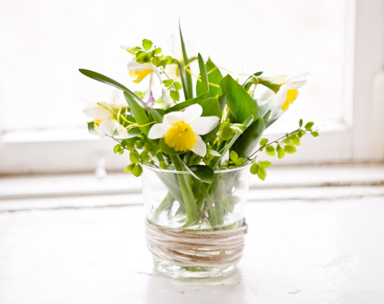 Floral Arrangement In Glass Vase For Table Decoration