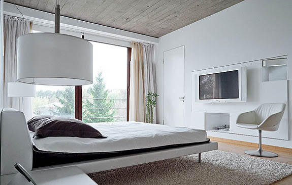 black and white bedroom decorating