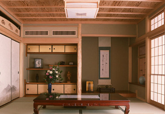 japanese interior design, ethnic decorating flavor