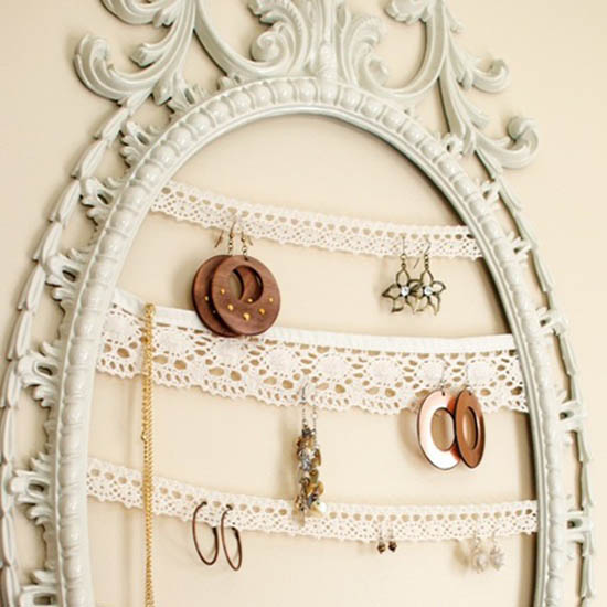 Buy or DIY Jewelry Organizer, Wall Decoration in Vintage Style