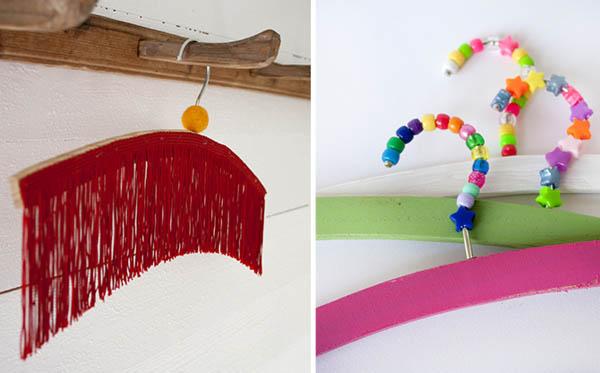 Colorful Hangers For Kids Closet Hanger Decorating Ideas