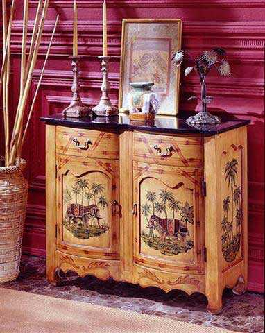 hand painted furniture for colonial homes