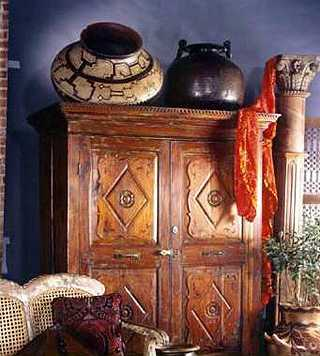 hand crafted furniture and colonial style decor accessories
