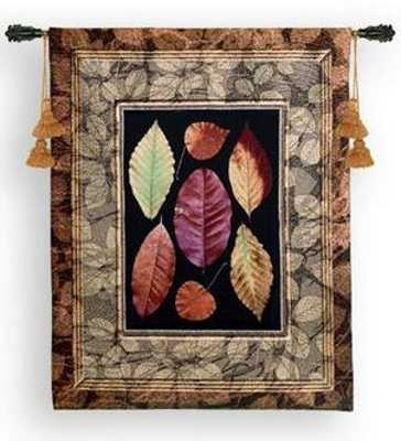 tapestry with colorful leaves